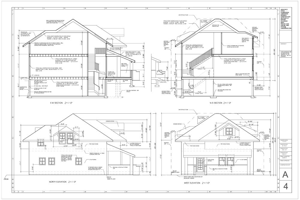 New home drawings landmarkk for Denver adu builders